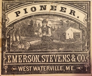 Emerson & Stevens axe label